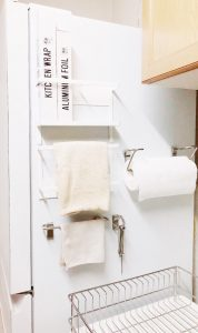 冷蔵庫の側面の収納例