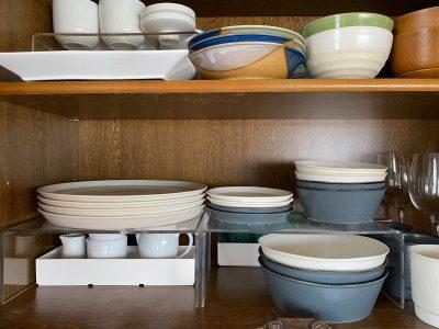 食器棚(コの字ラックとBOX)